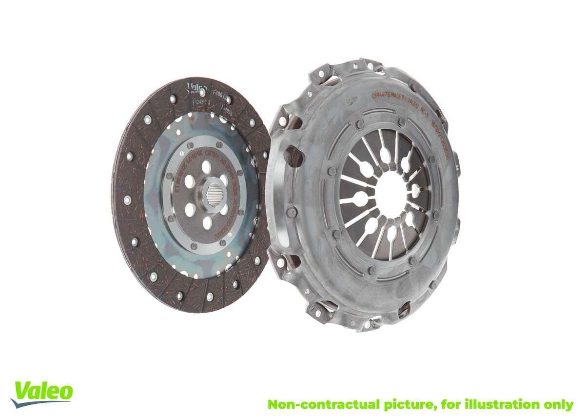 Comprare 826354 VALEO KIT2P con spingidisco frizione, senza dispositivo disinnesto centrale, con disco frizione Kit frizione 826354 poco costoso