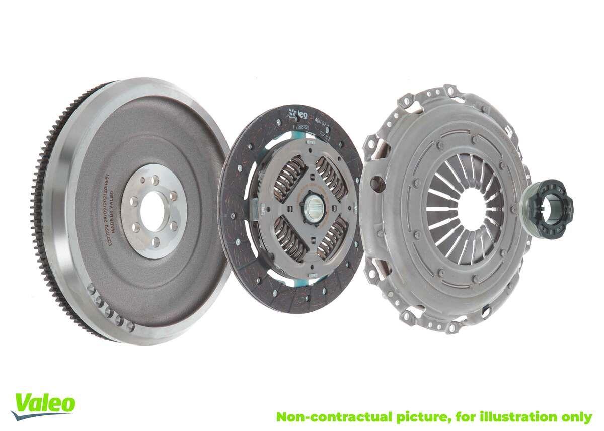 835046 VALEO KIT4P - CONVERSION KIT Ombyggnad från dubbelmassesvänghjul till enkelmassesvänghjul, med tryckplatta, med lamell, med svänghjul, med utrampningslager Kopplingssats 835046 köp lågt pris
