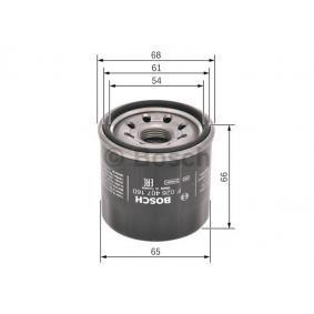 F 026 407 160 Wechselfilter BOSCH - Markenprodukte billig