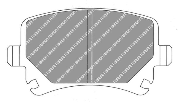 Brake pad set FCP1636H FERODO RACING — only new parts