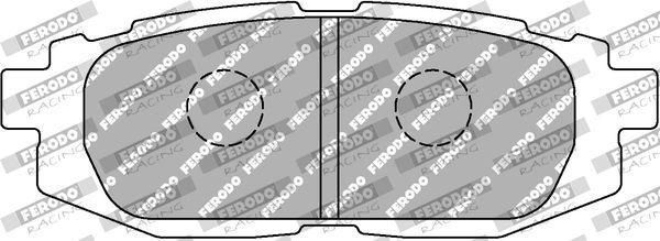 SUBARU TRIBECA 2015 Bremsklötze - Original FERODO RACING FCP4187H Breite 1: 40mm, Dicke/Stärke 1: 16,7mm