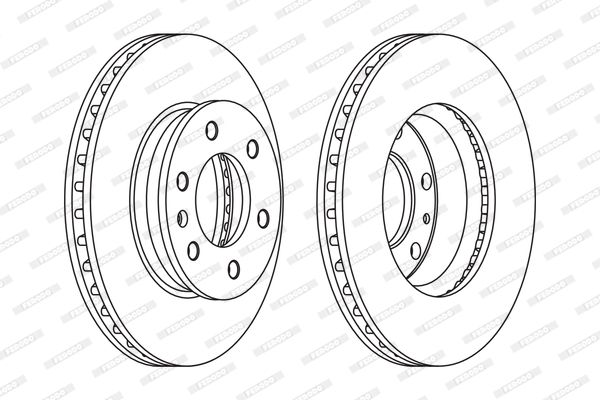 VW Disque de frein d'Origine FCR310C