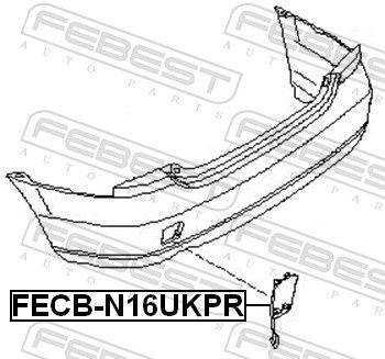 FECB-N16UKPR Tampa, gancho de reboque FEBEST - Produtos de marca baratos