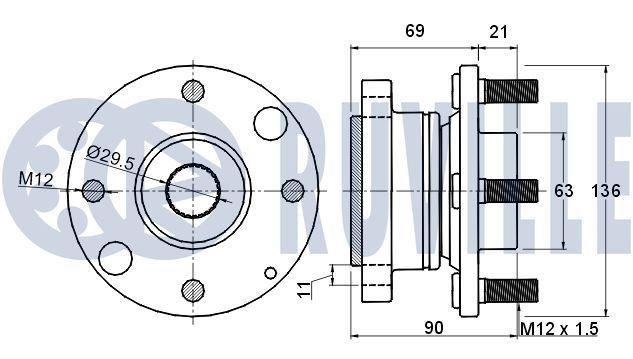 OE Original Spannrolle, Zahnriemen 55456 RUVILLE