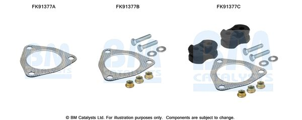 OE Original Montagesatz Vorkatalysator FK91377 BM CATALYSTS