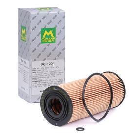 FOP204 MULLER FILTER Filtereinsatz Innendurchmesser: 19mm, Ø: 65mm, Höhe: 155mm Ölfilter FOP204 günstig kaufen