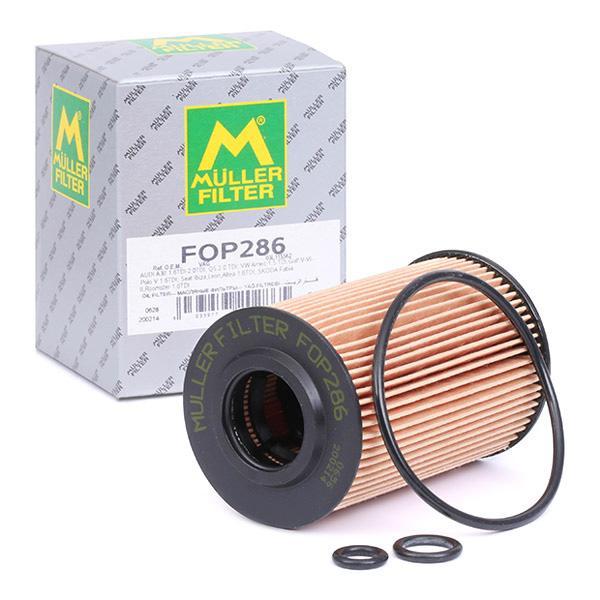 Achat de FOP286 MULLER FILTER Cartouche filtrante Diamètre intérieur: 21mm, Diamètre intérieur 2: 21mm, Ø: 66mm, Hauteur: 101mm Filtre à huile FOP286 pas chères
