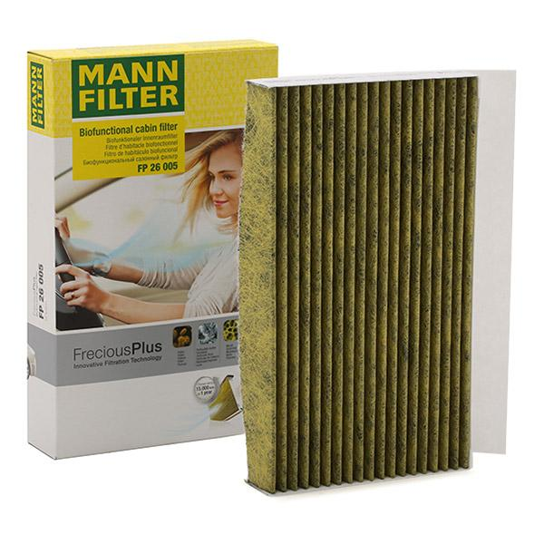 MANN-FILTER: Original Kabinenluftfilter FP 26 005 (Breite: 150mm, Höhe: 35mm, Länge: 260mm)