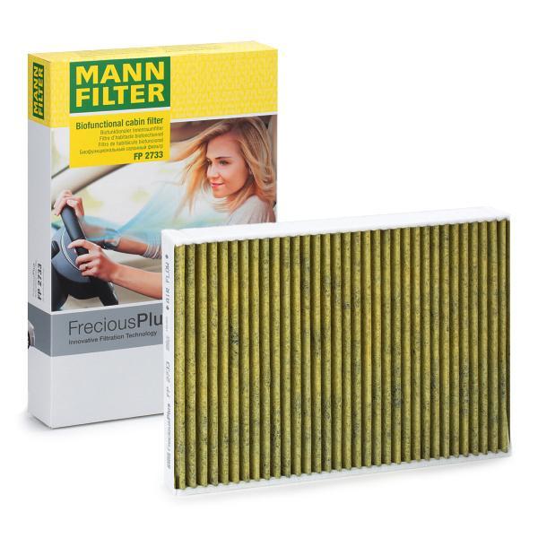 Köp MANN-FILTER FP 2733 - Klimatanläggning till Volvo: Aktivkolfilter med polyfenol, aktivtkolfilter, Findammfilter (PM 2.5), med antibakteriell verkan, med fungicid verkan, FreciousPlus B: 195mm, H: 33mm, L: 280mm