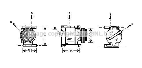 Original FORD Klimakompressor FTAK090