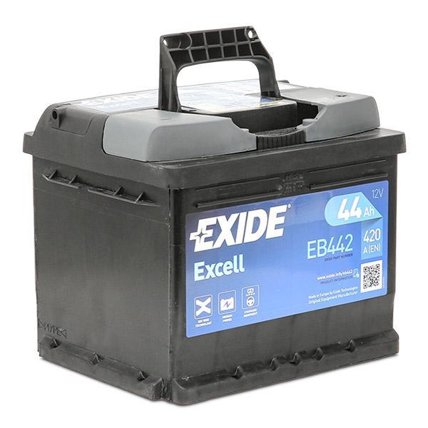 Pieces detachees VOLKSWAGEN FRIDOLIN 1971 : Batterie de démarrage EXIDE EB442 Volt: 12V - Achetez tout de suite!