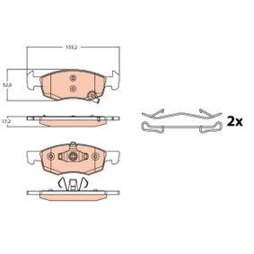 GDB2099 Bremsbelagsatz, Scheibenbremse TRW GDB2099 - Große Auswahl - stark reduziert