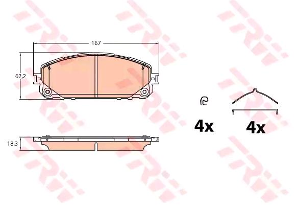 Bremsbelagsatz, Scheibenbremse TRW GDB2142 Bewertungen