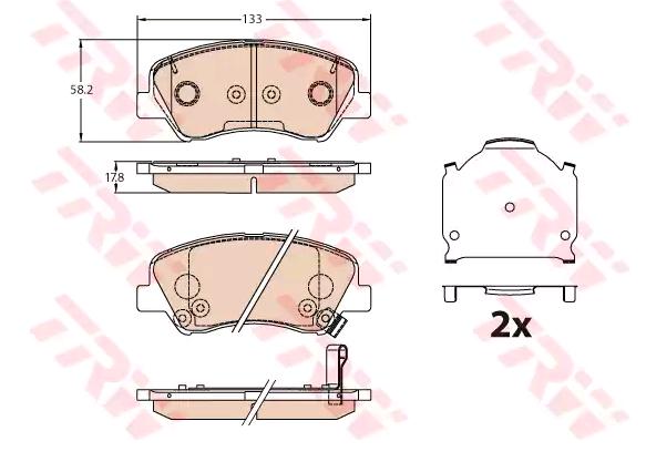 Bremsbelagsatz Scheibenbremse TRW GDB3630