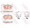 Bremsbelagsatz, Scheibenbremse GDB3642 — aktuelle Top OE 58101 3ZA76 Ersatzteile-Angebote