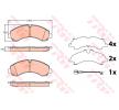 TRW Bremsbelagsatz, Scheibenbremse für MITSUBISHI - Artikelnummer: GDB3645