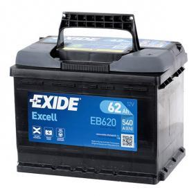 55559 EXIDE EXCELL Batterie-Kapazität: 62Ah Kälteprüfstrom EN: 540A, Spannung: 12V, Polanordnung: 0 Starterbatterie EB620 günstig kaufen