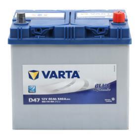 D47 VARTA BLUE dynamic Batterikapacitet: 60Ah Köldstartström EN: 540A, Spänning: 12V, Polställning: 0 Batteri 5604100543132 köp lågt pris