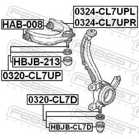 HBJBCL7D Reparatursatz, Trag- / Führungsgelenk FEBEST HBJB-CL7D - Große Auswahl - stark reduziert