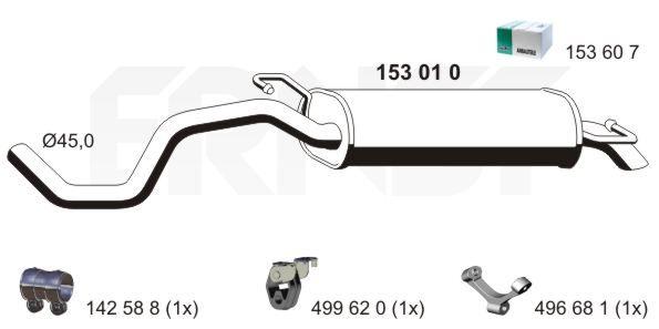 Original MINI Endschalldämpfer 153010