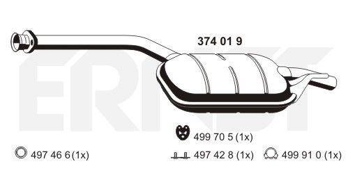 MERCEDES-BENZ Baureihe 124 1986 MSD Attrappe - Original ERNST 374019