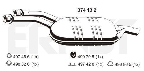 Original MERCEDES-BENZ Mitteltopf 374132