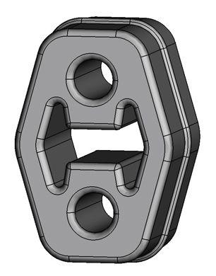 Volkswagen PHAETON ERNST Holder exhaust pipe 499538