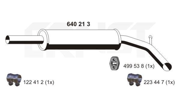 Mittelschalldämpfer ERNST 640213 Bewertungen