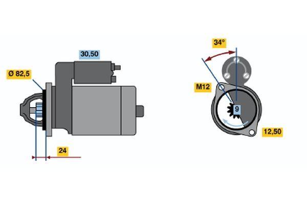Koop BOSCH Startmotor / Starter 0 001 314 018 vrachtwagen