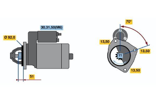 Köp BOSCH Startmotor 0 001 371 004 lastbil