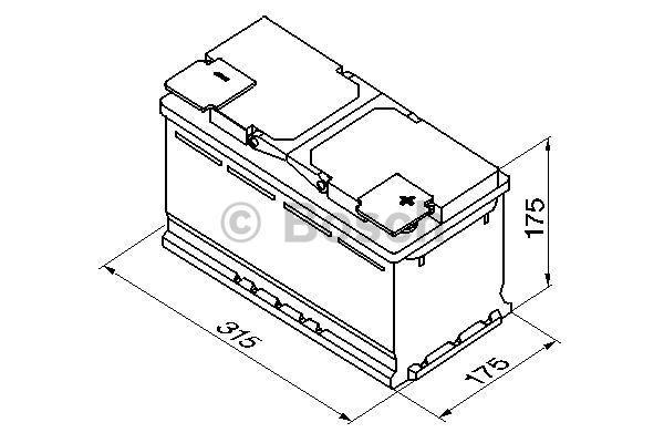0 092 S40 100 Batterie BOSCH - Markenprodukte billig