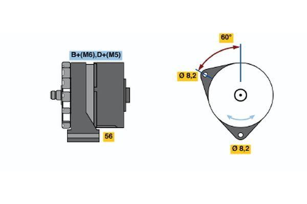 Köp BOSCH Generator 0 120 339 531 lastbil