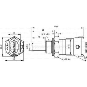 0 281 002 209 Sensor, Kühlmitteltemperatur BOSCH in Original Qualität