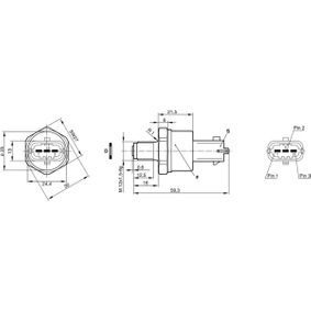 0 281 002 497 Capteur De Carburant Pression Carburant Pression Sonde NEUF BOSCH