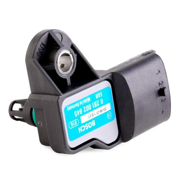 0 281 002 845 Sensor, presión de sobrealimentación BOSCH - Productos de marca económicos
