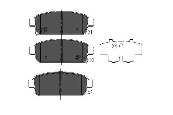 Brake pad set disc brake KBP-1013 KAVO PARTS — only new parts