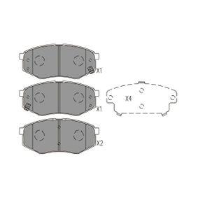 Bremsbelagsatz Scheibenbremse TRW GDB3553