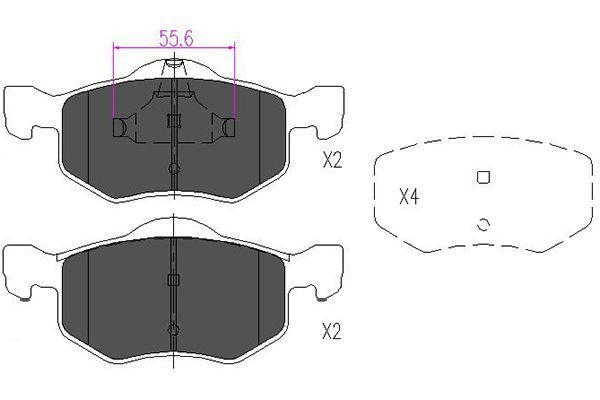 Bremsbelagsatz Scheibenbremse KAVO PARTS KBP-4541
