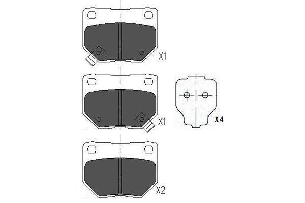 Brake pad set disc brake KBP-6545 KAVO PARTS — only new parts