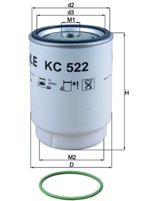 KC 522D MAHLE ORIGINAL Fuel filter for MAN TGX - buy now