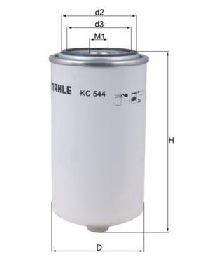 MAHLE ORIGINAL Kraftstofffilter für AVIA - Artikelnummer: KC 544