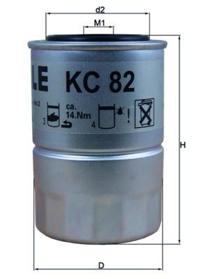 Achetez Filtre à carburant MAHLE ORIGINAL KC 82D (Hauteur: 122mm, Diamètre du boîtier: 80mm) à un rapport qualité-prix exceptionnel