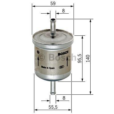 0 450 905 002 Brændstof-filter BOSCH original kvalitet