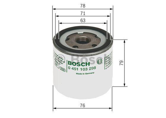 0 451 103 298 Filter BOSCH - Markenprodukte billig