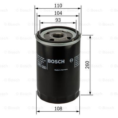 0 451 300 003 BOSCH Filtro olio per RENAULT TRUCKS Kerax acquisti adesso