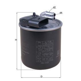 0072352815 KNECHT Ledningsfilter H: 123,8mm Bränslefilter KL 914 köp lågt pris