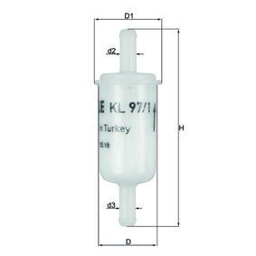 Moto MAHLE ORIGINAL In-Line Filter Height: 100,0mm, Housing Diameter: 30,0mm Fuel filter KL 97/1 OF cheap