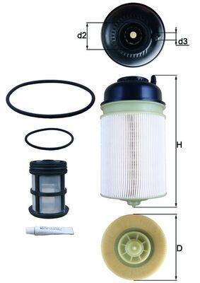 MAHLE ORIGINAL Kraftstofffilter passend für MERCEDES-BENZ - Artikelnummer: KX 400KIT