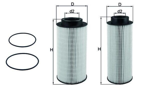 KX 439KIT MAHLE ORIGINAL Filtr paliwa do SCANIA L,P,G,R,S - series - kup teraz