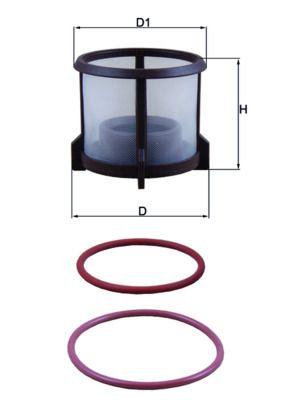 KX 72D2 MAHLE ORIGINAL Fuel filter for MAN TGX - buy now